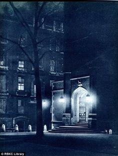 "Photographers John Morrison & Harold Burdekin: ""London Night"", published 1934.      Via Royal Borough of Kensington and Chelsea Library Service"