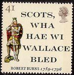 Robert Burns - The Immortal Memory Stamp 'Scots, wha haw wi Wallace bled' and Sir William Wallace. First song I learnt to play on chanter when I took bagpipe lessons in Scottish Quotes, Scottish Gaelic, Uk Stamps, Postage Stamps, Burns Supper, William Wallace, Commemorative Stamps, Robert Burns, Stamp Collecting