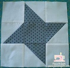 Piece N Quilt: Block of the Month {Friendship Star} Month 1 Your block should be 12 1/2""