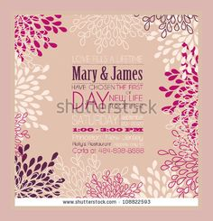 Vector Vintage Invitation Card Frame Template Design With Text On