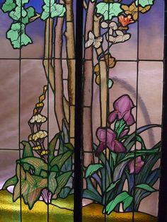 Vitrail dit de La salle (1904), Jacques Gruber - Musée de l'Ecole de Nancy .France