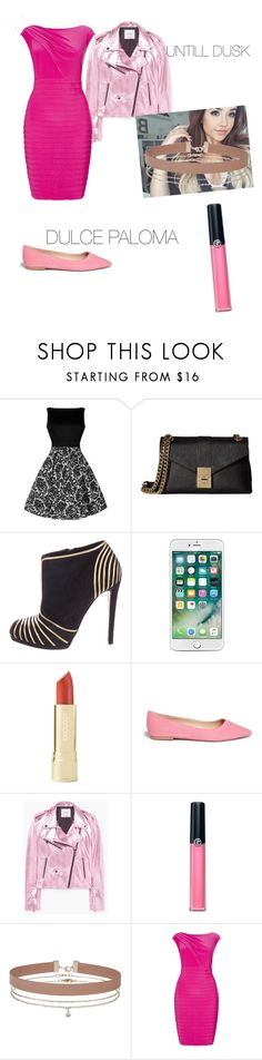 """""""untill dusk ( date 1 )"""" by jarewhite ❤ liked on Polyvore featuring Calvin Klein, Sergio Rossi, Axiology, Sam Edelman, MANGO, Armani Beauty, Miss Selfridge and Adrianna Papell"""