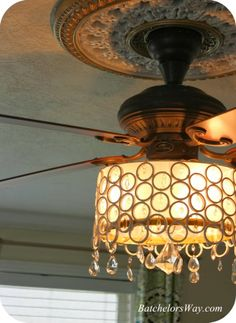 Batchelors Way DIY Ceiling Fan Chandelier Idea For The Living Room Looking