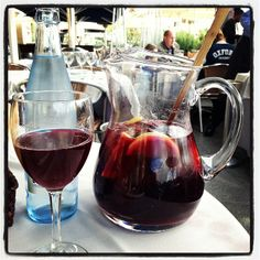 Sitting in the streets of Barcelona sipping sangria, could it get any better ♥
