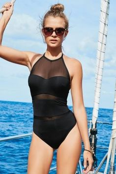 Nothing says luxe like a mesh swimsuit and we can already see this being rocked on the beach this summer!