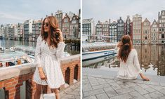 Top Fotospots Amsterdam Amsterdam, White Dress, Dresses With Sleeves, Long Sleeve, Fashion, Pictures, Moda, Sleeve Dresses, Long Dress Patterns