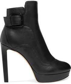 b53e67a1e3 Jimmy Choo Britney Leather Ankle Boots - Black Black Ankle Boots, Leather  Ankle Boots,
