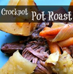 Crockpot Pot Roast Recipe- made some changes to this.