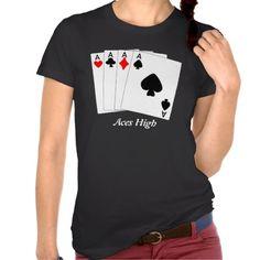 Aces High Black Tee Shirt