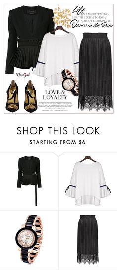 """Gold 54"" by nerma10 ❤ liked on Polyvore featuring Yigal AzrouÃ«l, Dolce&Gabbana and WALL"