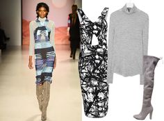9 Ways to Style a Turtleneck for Fall - With a Cut-Out Dress  - from InStyle.com