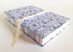 """Handmade Blank Notebook With Vintage William Morris Print """"liberty Of London"""". Perfect As A Bullet Journal, Wedding Planner, Or Recipe Book."""