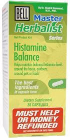 Histamine Balance is a natural allergy relief aid manufactured in USA by the well known Canadian company Bell Lifestyle Product. http://www.brainopinions.com/histamine-balance/