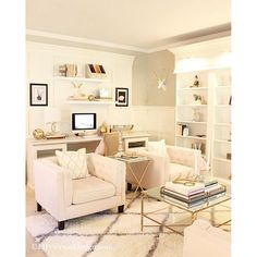 Notice the office/living space in a large room. This arrangement ...