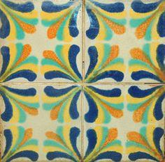 colors for my kitchen? Tile Top Tables, Spanish Style Bathrooms, Tile Art, Tiles, Artistic Tile, Orange Design, Vintage Tile, Vintage California, Kitchen Tops