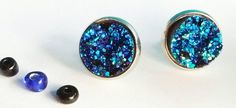 Check out this item in my Etsy shop https://www.etsy.com/uk/listing/546987797/fiver-friday-blue-druzy-earrings-blue