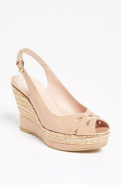 #shoes #wedges #sandals #summer #spring #stuartweitzman #shopcade #style