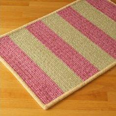 Chenille Wide Stripe Pink / Green Kids / Juvenile Rug Size: Square 5` $230.00