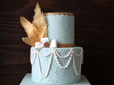 Great Gatsby Cake - Style Sweet CA