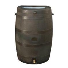 Rain Barrel (with soaker hoses)