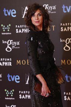 Natalia Tena vestida con un peplum reformado por Ana Locking. #goya2015 #federopticos