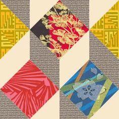 DANCING CUBES - Antique Geometric Quilt Designs