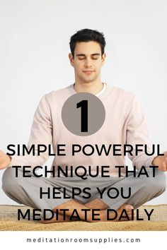 1 Simple powerful technique that helps you meditate daily Learn practical techniques to start  your own meditation practice at home today! #meditation #yoga morning  meditation routine, morning meditation for beginners tips, how to  meditate in the morning, morning meditation for anxiety, morning  meditation guided, meditation for beginners stress, how to meditate, Meditation Scripts, Meditation For Stress, Meditation Room Decor, Types Of Meditation, Power Of Meditation, Morning Meditation, Meditation For Beginners, Meditation Benefits, Meditation Techniques
