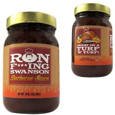 Parks and Recreation Ron F***ing Swanson BBQ Sauce.... Yeah, i definitely wanna try this!