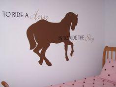 Girls room who loves horses