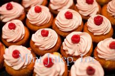Cupcakes in Lieu of Wedding Cake ~ Coordination by Mint Julep Social Events.