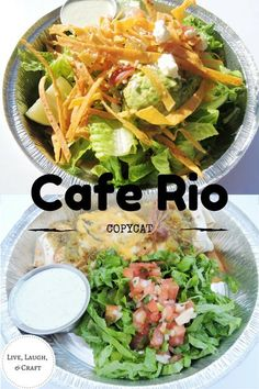 The best Cafe Rio copycat recipes all in one place! Cilantro lime rice sweet pork tomatilla dressing tortilla strips enchilada sauce and more! Make a salad or burrito with these recipes. Cafe Rio Recipes, Copycat Recipes, Mexican Food Recipes, Ethnic Recipes, Drink Recipes, Easy Dinner Recipes, Great Recipes, Easy Meals, Healthy Recipes