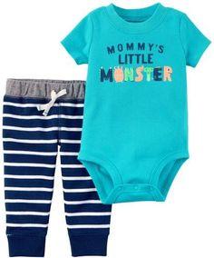 Carter's Baby Boys Mommy's Little Monster Bodysuit Set