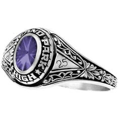 Fantasia Girl's High School Class Ring in Amethyst, starting at only $209.95. Best prices on high school class rings at www.wearmystory.com/. Save money compared to Jostens, Herff Jones and other in-school ring sales.