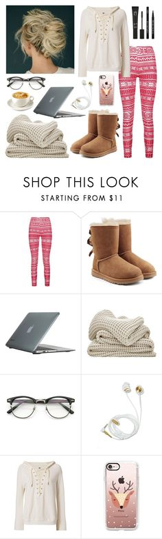 """Christmas break"" by isabel-harsh ❤ liked on Polyvore featuring Boohoo, UGG, Speck, NSF, Casetify, Eyeko and IsabelsFaves"