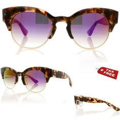 cdb79d7d0 DITA LIBERTY 22026 SUNGLASSES Cream Tortoise/12K Gold/Dark Grey/Violet  Flash Lns
