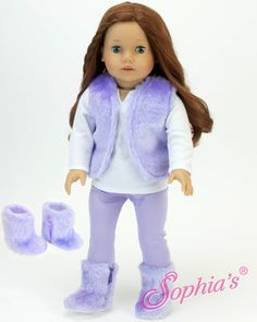 """New Sophia Doll Clothes Pink Sequin Tunic Outfit Fits18/"""" American Girl Type Doll"""