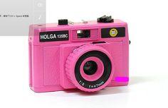 PINK HOLGA 135BC 135 35mm Format Toy Art Photo Camera lomo diana Brand NEW