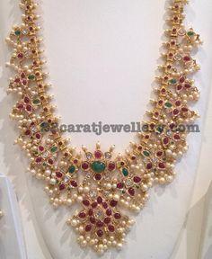 Round Pearls Guttapusalu Set - Jewellery Designs
