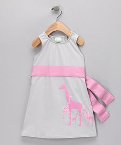 Giraffe Organic Dress - zulily