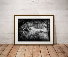 Boathouse Art,Scotney Castle,Kent Art,Architectural Art,Fairytale Art,Room Decor,Dorm Prints,Large Wall Art Print,Black White Art,Art Print, by TheWildWestArtStore on Etsy