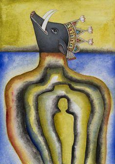 Francesco Clemente EMBLEMS OF TRANSFORMATION 2 2014 Watercolour on paper