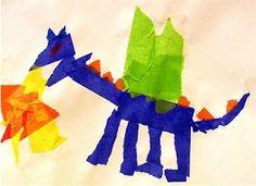 Deep Space Sparkle – Tissue Paper Dragon Art Lesson