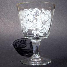 Chance glass CALYPTO early bucket shape wine glass, Harris Art Deco Glass, Glass Paperweights, Murano Glass, Candlesticks, Birmingham, Wine Glass, Bucket, England, Shape
