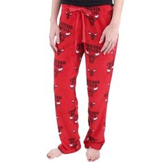 Chicago Bulls Women's Sweet Dreams Plush Lounge Pants – Red