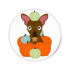 #Dog Pumpkin Picking Fall Sticker LexiDog - #halloween #party #stuff #allhalloween All Hallows' Eve All Saints' Eve #Kids & #Adaults