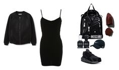 """out and about"" by oddgrrrl on Polyvore featuring Miss Selfridge, MANGO, NIKE, Moschino, Deborah Lippmann and Lipstick Queen"