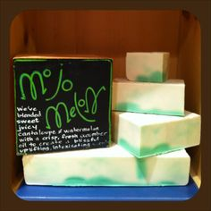 This juicy smelling body soap is a fruity blend of fresh cucumber and juicy melon! This is a favorite with the kids and the grown ups! Mojo Melon is fun for the whole family! Available at www.LATHERANDFIZZ.com and Amazon.com
