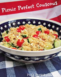 As spring turns into summer, it's the time of year which brings out the neighbors, and lots of potlucks and picnics. The Couscous Salad I'm sharing with you today is the perfect dish to take along to your spring and summer outings, and is sure to be a big hit.