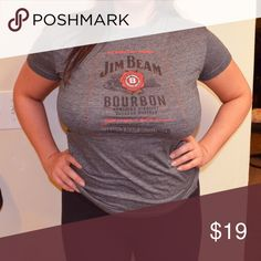 Jim Beam promo T Shirt Cotton, Jim Beam T shirt.  100%? Cotton  ALL OFFERS CONSIDERED Tops Tees - Short Sleeve