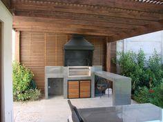 Quinchos de microcemento de Comercial Dominguez Grill Design, Patio Design, Garden Design, Backyard Fireplace, Backyard Patio, Parrilla Exterior, Magazine Deco, Dirty Kitchen, Modern Patio